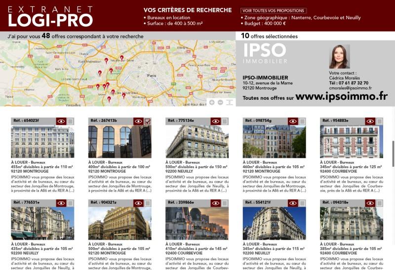 Extranet clients Logi-Pro